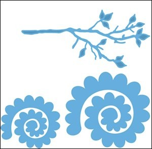 Creatables stencil branch and flower 1  LR0256 *