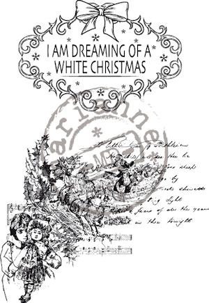 Clear stamp vintage dreaming of a white xmas CS0877
