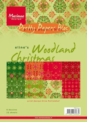 Pretty Papers bloc Eline`s Woodland Christmas PB7044