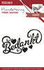 Clearstamp - Handlettering - Yvonne Creations - Bedankt YCCS10019