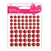 Shimmer Dome Stickers (80 PCS.) - Red