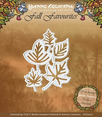 Artikel nr: YCD10011 Yvonne Creations - Fall Favourites - Leaves