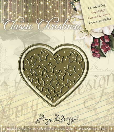 Die - Amy Design - Die - Classic Christmas - Star-filled heart