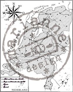 Clear stamp map of Holland  CS0911