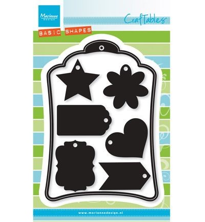 Craftables stencil label XL & labels XS CR1353