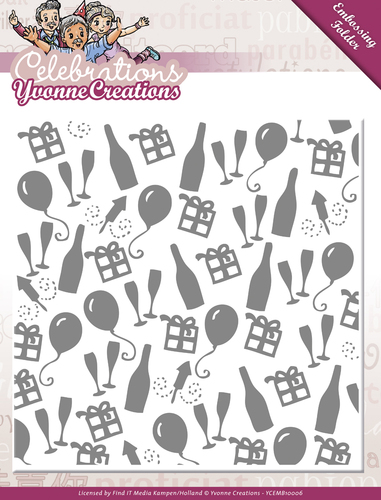 Embossing Folder - Yvonne Creations - Celebrations