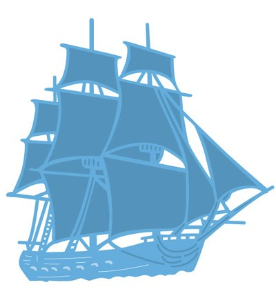 Creatables stencil Tiny`s tall ship LR0416