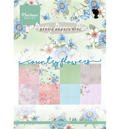 Marianne Design » Pretty Papers - A5 Country Flowers PK9144