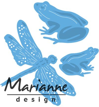 Marianne Design » Creatables Tiny`s frogs and dragonfly LR0461
