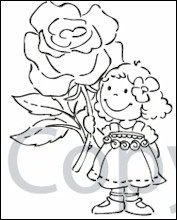 CLEAR STAMPS ROSE EC0123