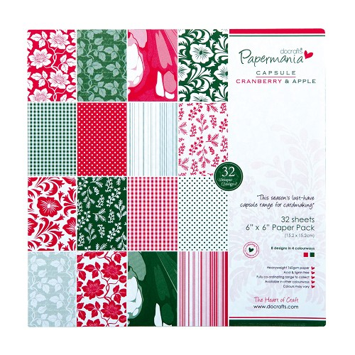 6x6 Paper Pack - Capsule (32Pk) Cranberry & Apple