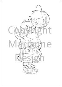 CLEAR STAMP SNOES WITH KITTEN  HM9440
