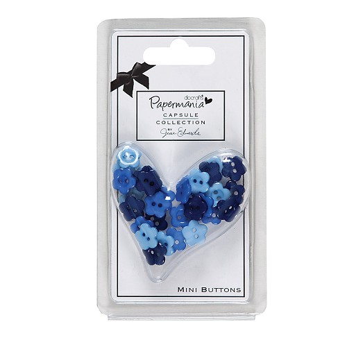 CAPSULE DAISY MINI BUTTONS (30PCS) - BURLEIGH BLUE